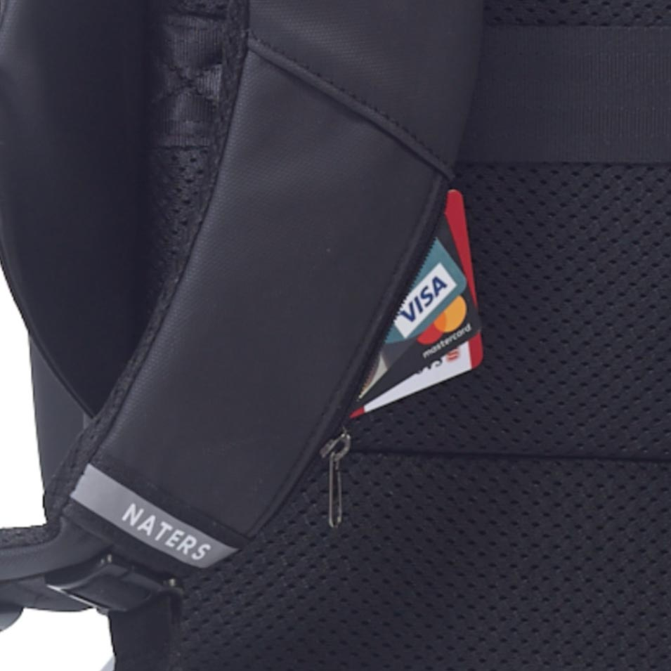 Hidden Pocket on Strap for Credit Cards